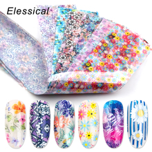 12pcs 4*20cm Mix Nail Transfer Foil Sticker Sliders Art Decal Design Foils Manicure Nails Decoration Set 3d Flower Strips