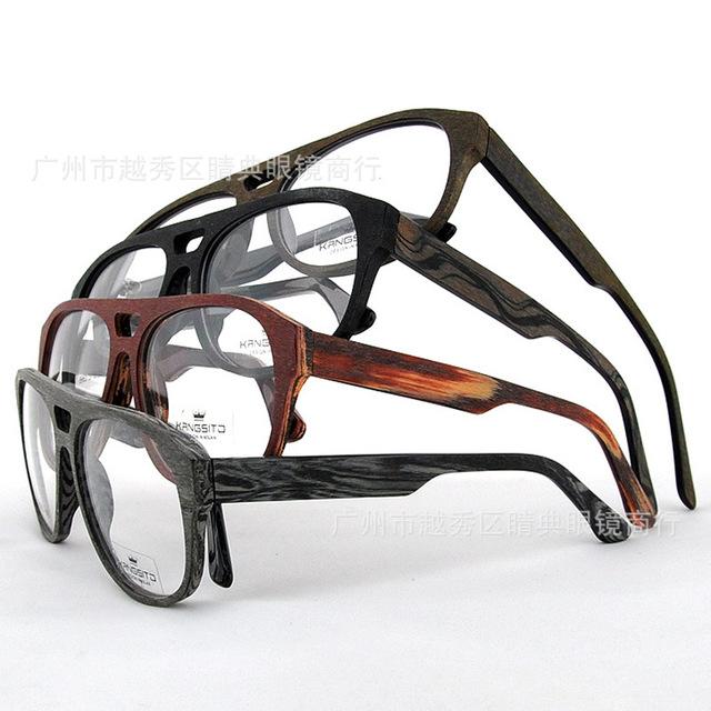 Novos óculos homens marca armações armações de óculos olho óculos de acetato masculino projeto de madeira frame do vintage miopia K8985