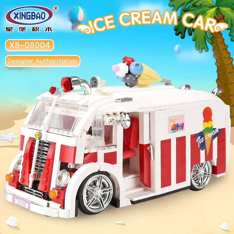 08004 City the Ice Cream Car Camper Van Legoings Technic Building Blocks Bricks Children Educational Toys Model Gifts 10220 Toy sueway 100% 08004
