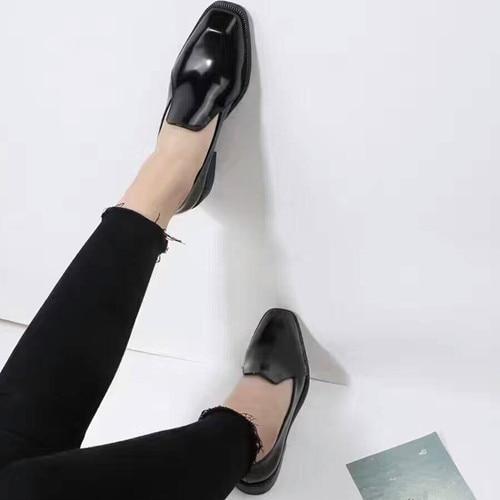Del Negro Dedo Zapatos Estilo De Pie Británico Vestir Charol Pq60RBw