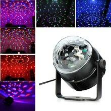 Mini RGB LED Crystal Magic Ball Stage Effect Lighting Lamp Bulb Party Disco Club DJ Light Show Lumiere стоимость