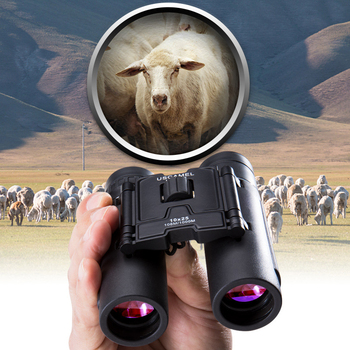 USCAMEL 10x25 Compact Binoculars Folding HD FMC Optics 1