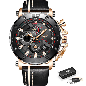 LIGE 2019 Men's Fashion Sport Quartz