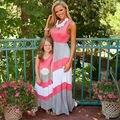 Соответствующие матери-дочери платья одежда пляж семейные девушка и мать платье мама и дочь соответствующие одежды 2 4 6 8 10 года