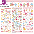 3sheet/set HOT97-99 minion moon star rainbow Water decal Nail Sticker design Nail Art Decals Water Transfer Stickers Tips