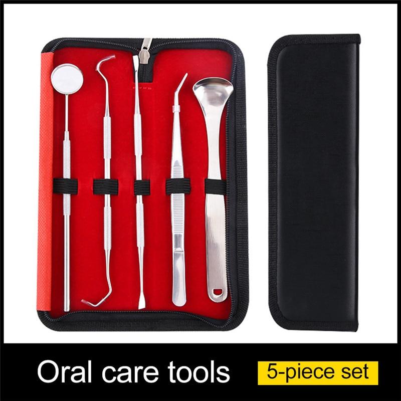 6 Pcs/ Set Dental Tool Dental Mirror Stainless Steel Dental Tool Mouth Mirror Dental Kit Instrument Dental Pick Dentist Prepare