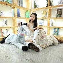 1pc 90/120CM Big Size Cute Lying Horse Plush Toys Stuffed Cartoon Animal Children Kids Girls Shooting Props Birthday Gifts
