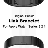Link Bracelet Band for Apple watch 42mm 38mm Stainless Steel Original Buckle Metal Strap for iWatch Series 3 2 1 watchband