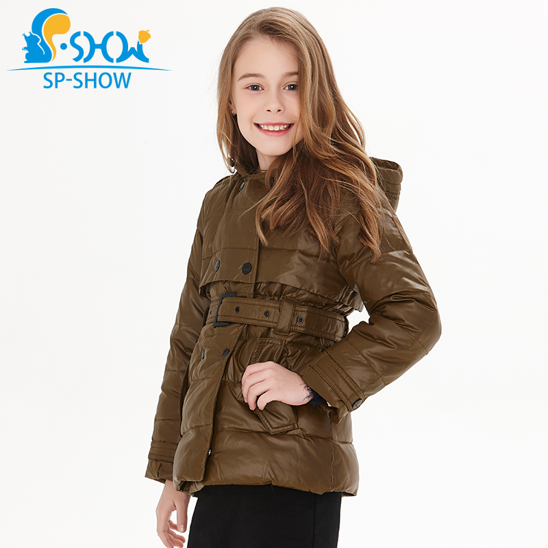 SP-SHO Spring fall winter Warm Kids Down Coats Girl Parkas For Children Girls Winter Coats For 3-10 Age Jackets& Parkas 2122 цена 2017