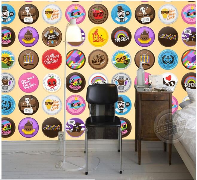 Custom papel DE parede infantil, modern style cute icon paintings for children room sofa TV wall vinyl papel DE parede стикеры для стен 2015 papel de parede infantil shb127