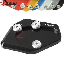 For TMAX 530 XP530 Motorcycle Parts CNC Side Stand Enlarge kickstand pad Yamaha 2015 2016