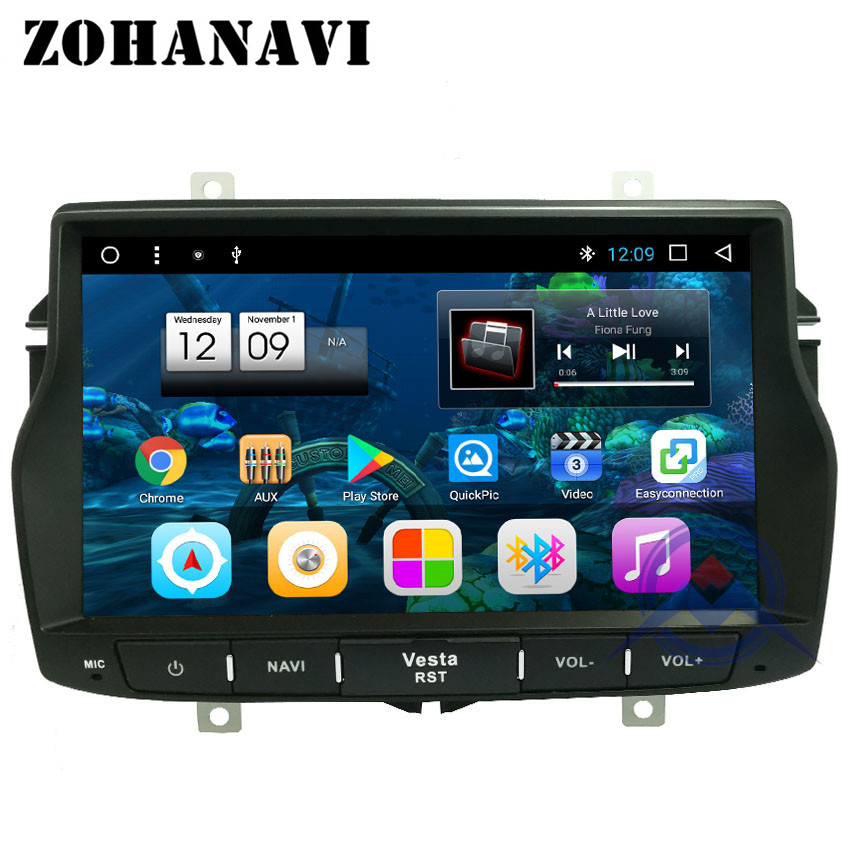 ZOHANAVI OctaCore Android Car Radio for LADA VESTA GPS navigation radio tape recorder Multimedia player maps