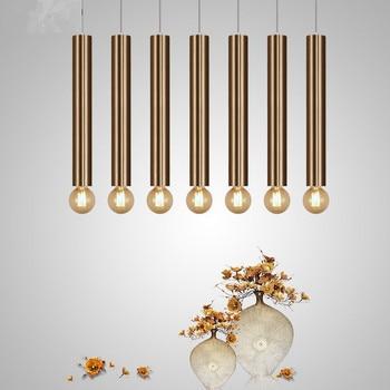 Gold Anhänger Lampe Unten Lichter Küche Insel Esszimmer Wohnzimmer Shop  Dekoration Zylinder Rohr Anhänger Bar Zähler Moderne