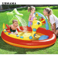 Thickening plastic material inflatable swimming pool for children infla circular color pool water spray garden opera pool