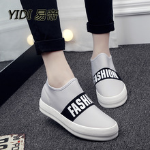 2016 spring new fashion stitching letters flat women canvas casual shoes