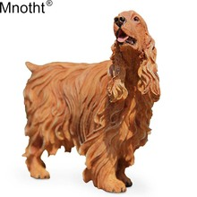 цена на Mnotht  Sence Accessory 1/6 British Brand Cocker Spaniel Model Simulation Dog Toys Resin for Action Figure Gifts Collection m5n