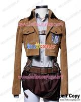 Attack On Titan Shingeki No Kyojin Cosplay Sasha Blouse Suede Costume Full Set H008
