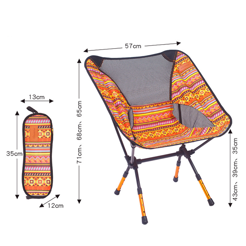 Image 2 - VILEAD 4 Colors  Adjustable Camping Chair Portable 7075 Aluminum Folding Ultralight Picnic Fishing Outdoor Beach bearing 150 kg-in Camping Chair from Sports & Entertainment