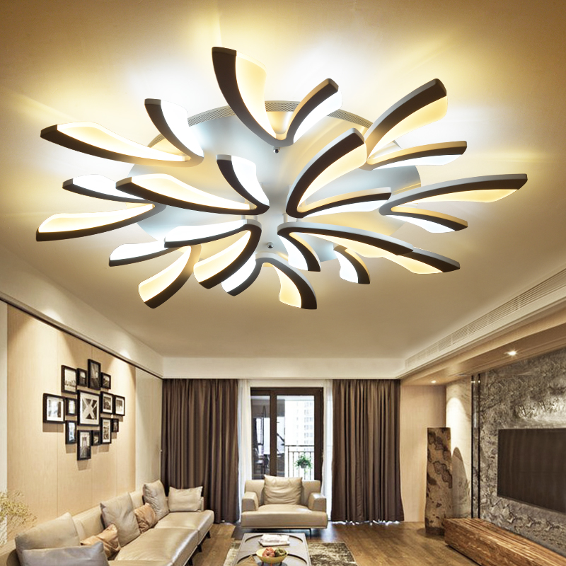 купить Acrylic Modern LED Ceiling Lights for Living Room Bedroom Dining Room Home Ceiling Lamp Lighting Fixtures Free Shipping по цене 2219.44 рублей