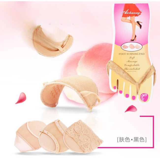Free shipping 1000pairs/lot Ladies Forefoot Invisible High Heeled Shoes Slip Resistant Half Yard Pads Lace Anti-slip Insole 10 pairs breathable latex rubber pad half code wholesale silicone half code inserts high heeled shoes insoles stick slip