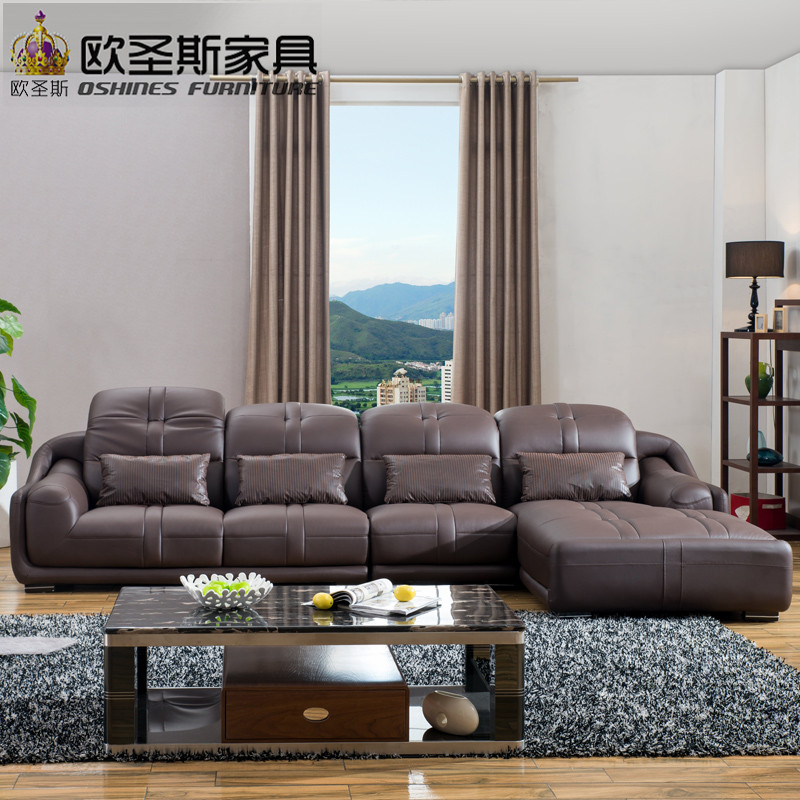 New model l shaped modern italy genuine real leather sectional latest corner furniture living room sex sofa set L28 furniture russia sectional fabric sofa living room l shaped fabric corner modern fabric corner sofa shipping to your port
