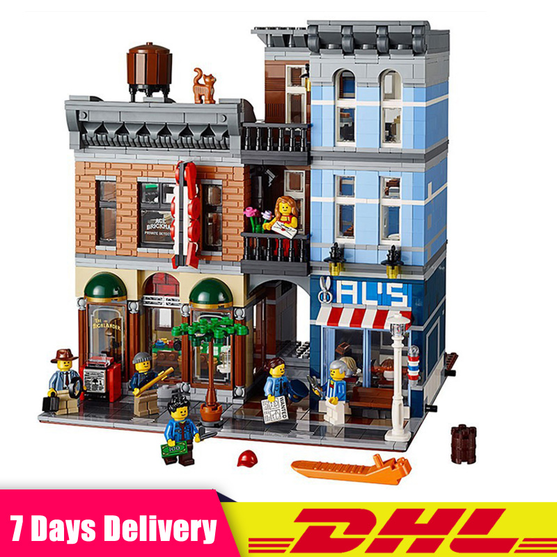 Creative City Street Detective's Office House Model Building Blocks Educational Brick Toys Gifts Compatible LegoINGlys 10246 цена