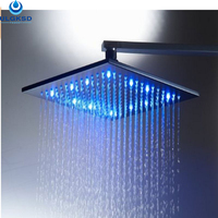 Ulgksd Wholesale And Retail LED Coloring Change Bathroom 10 Shower Head Oil Rubbed Bronze Wall Mounted