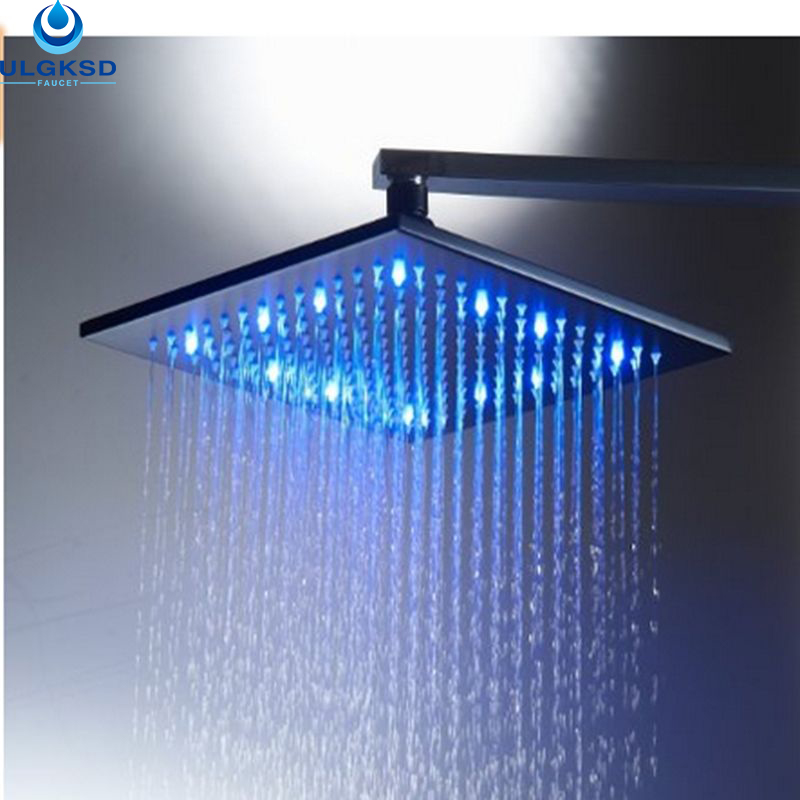 Ulgksd Wholesale and Retail LED Coloring Change Bathroom 10 Shower Head Oil Rubbed Bronze Wall Mounted Bath Rainfall Shower
