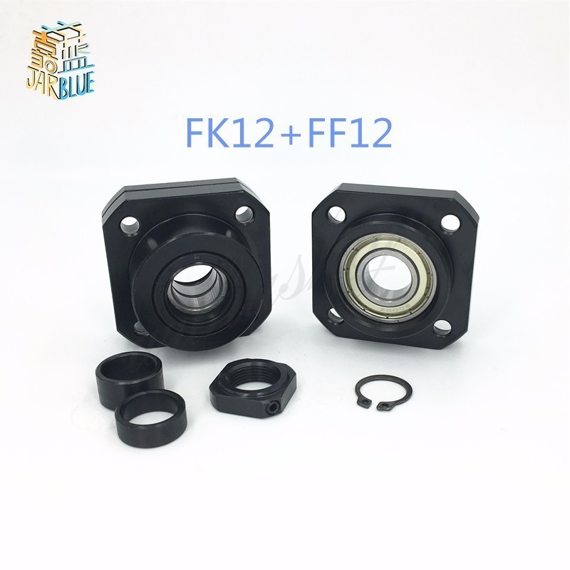 цены FK12 FF12 Support for 1605 1604 1610 set :1 pc FK12 Fixed Side +1 pc FF12 Floated Side CNC parts Woodworking Machinery Parts