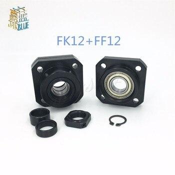 Fk12 Ff12 Suporte Para 1605 1604 1610 Conjunto: 1 Pc Fk12 Lado Fixo + 1 Pc Ff12 Floated Lado Cnc Peças De Máquinas Para Trabalhar Madeira