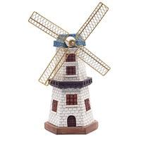Nordic Creative Retro Dutch Windmill Money Box Ornaments Resin Craft Piggy Bank Coin Box Gift Home Decoration Accessories Modern