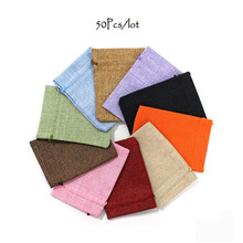 50pcs 10x14cm Flax Burlap Jute Drawstring Pouch Sack Jute Gift Bags for Wedding Party Favor Jewelry Packaging Coffee Been Bags 50pcs lot jute bags burlap drawstring gift bag linen storage pouches wedding party favor candy jewelry packaging bags