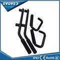 4-Door Front Rear Black Hard Mount Solid Steel Grab Handle GraBars for  JK Wrangler Unlimited 4 Door Black Red Grab Handles