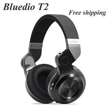Bluedio T2  Bluetooth nirkabel 4.1 Stereo headphone, Kebisingan membatalkan Headset dengan Mic berkualitas tinggi Bass hot sales original fashion bluedio t2 turbo wireless bluetooth 4 1 stereo headphone noise canceling headset with mic high bass quality