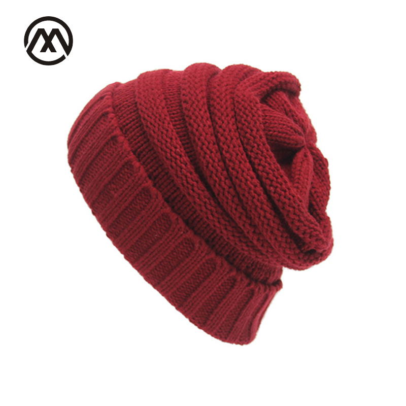 2017 Autumn Winter Women Knit Hats Striped Skullies Beanie Female Warm knitted Cap Wool Ear Girl Bonnet Stocking Hats Ski Caps female autumn and winter hats worn bonnet thick warm cap knitted caps women beanie cap
