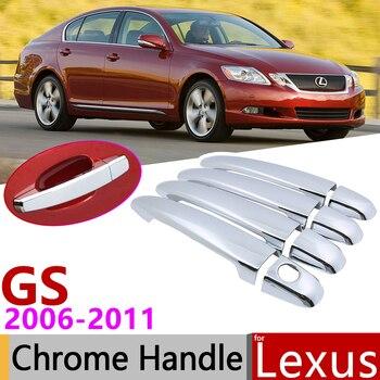 Для Lexus GS S190 2006 ~ 2011 хромированная внешняя дверная ручка крышка наклейки на автомобиль отделка набор из 4 дверей 2007 2008 2009 2010