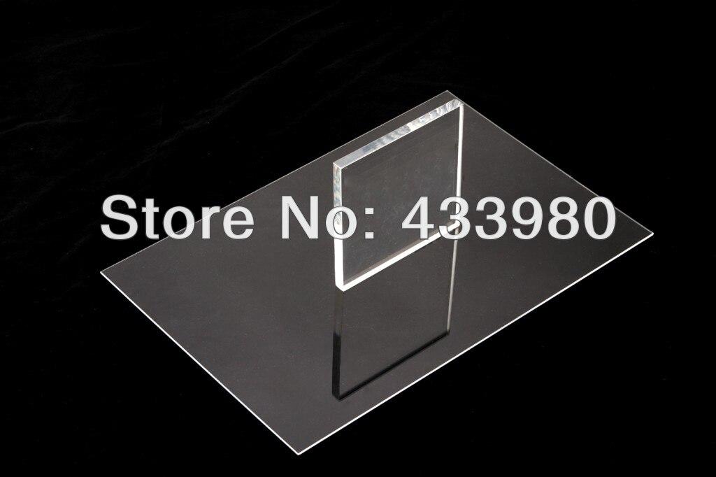 400mm x 300mm x 5 0mm Acrylic PMMA Transparent Clear Sheets 3 pcs lot