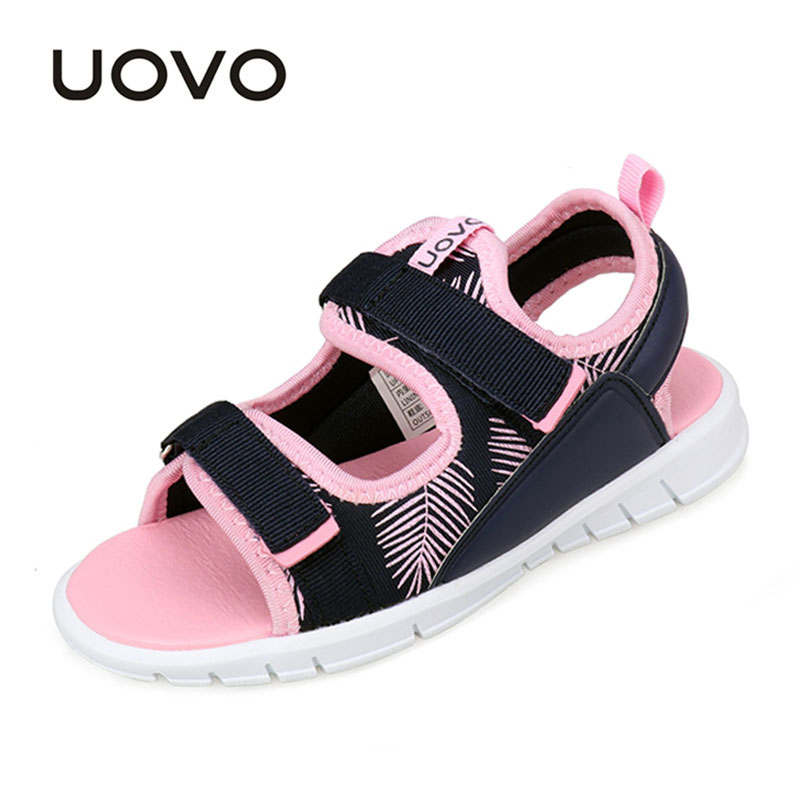 Toddler Baby Boys Girls Beach Shoes Uovo Brand Size 25-32 Kids Soft Flat Summer Sandals Light Weight High quality Flat Sandalias