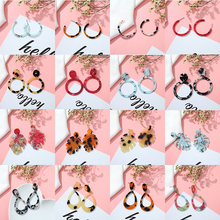 Korea Design Acrylic Earrings  Fiber Transparent Pendant Geometric Women Retro Fashion Leopard Jewelry