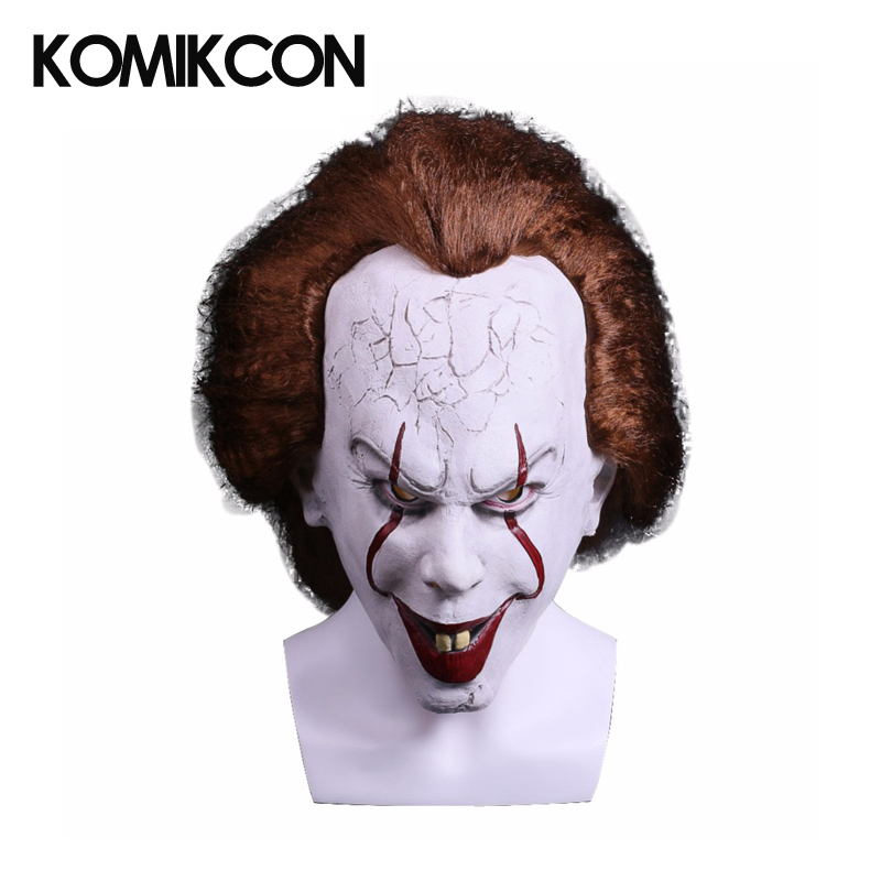 Stephen King's It Pennywise Cosplay Mask Horrible Cosplay Props Halloween Costume Accessories Christmas Costume
