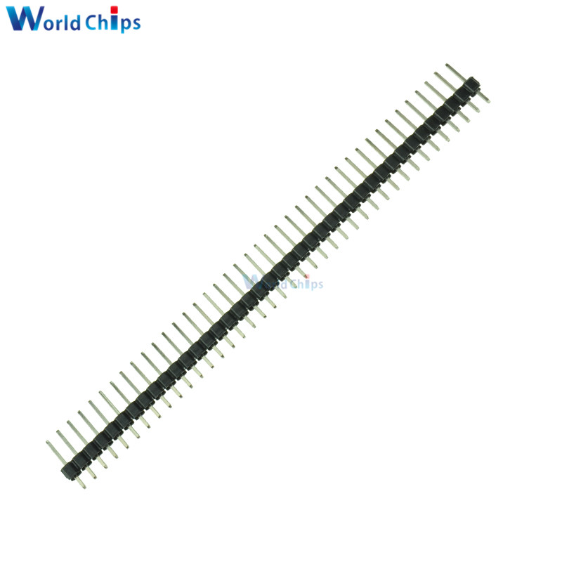 10pcs 40pin 2 54mm single row straight male pin header strip pbc for arduino