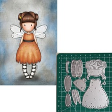 Metal Cutting Dies Little doll dragonfly 2019 Scrapbooking Craft Cut Stamps Embossing Stencils Invitation Card