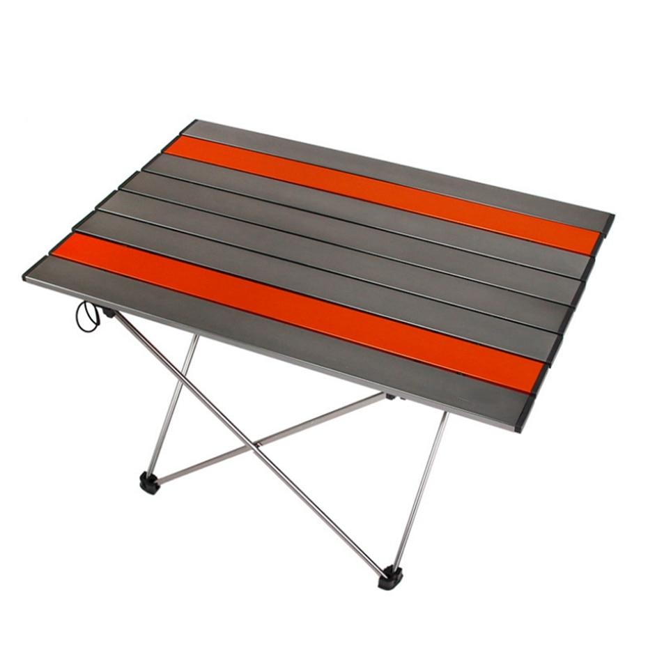 YINGTOUMAN extérieur vaisselle Portable pliable Table pliante bureau Camping extérieur pique-nique Table Ultra-léger vaisselle bureau - 3