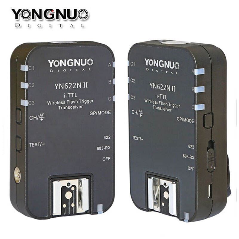 YONGNUO YN622N II Wireless i-TTL HSS Flash Trigger Transceiver for Nikon Camera Support YN560IV YN685 YN565EX YN568EX YN622NII 2pcs yongnuo yn622n ii yn622n tx i ttl wireless flash trigger transceiver for nikon camera for yongnuo yn565 yn568 yn685 flash