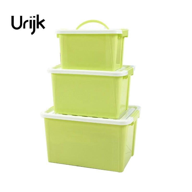 Urijk 1PC Household Snacks Kitchen Storage Box Plastic Multi-purpose Underware Bra Finishing Box Debris Plastic Medicine Box Kit