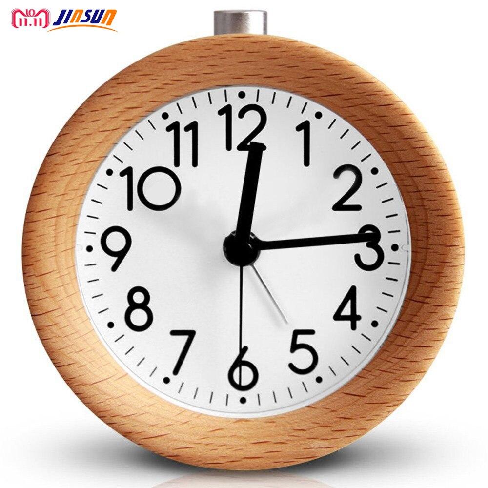 Ticking, Clock, Circular, JINSUN, Snooze, Wood