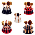 Hot sale 10pcs Oval tooth brush Makeup Brushes Acrylic Display Holder Stand Storage Organizer Brush Showing Acrylic Rack Only