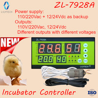 ZL 7928A, 100/220Vac, 12V Battery backup, Dry outputs, Incubator Controller, Multifunction Automatic Incubator, Lilytech