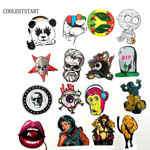 50-100 PCS Graffiti Retro Animal Creative Cool Waterproof Sticker for Suitcase Laptop Etc. 4