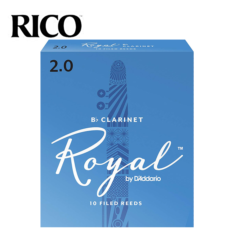 RICO Royal Bb Clarinet Reeds, Strength #2.5 #3.0, 10-pack Blue Box Of 10 [Free Shipping]